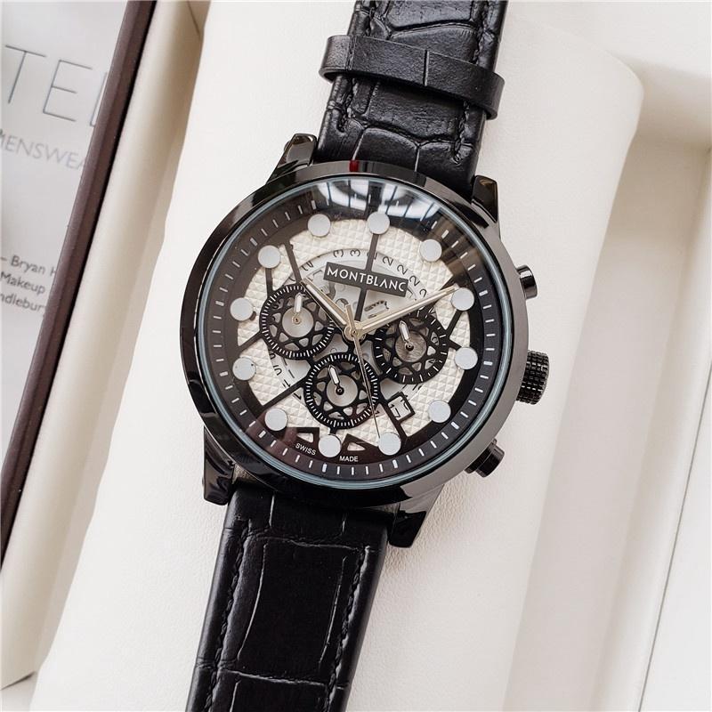 brand fashion classic quartz mens watch 2020 chronograph rubber belt date wristwatch rose gold metal watch men 8755