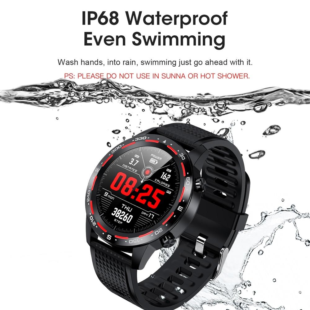 2020 nuevo reloj inteligente L12 con Bluetooth, llamada ECG + PPG, rastreador deportivo de ritmo cardíaco, presión arterial IP68 a prueba de agua VS reloj inteligente L11/L13