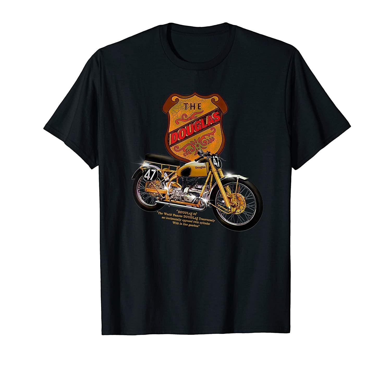 Camiseta a lendária motocicleta de douglas