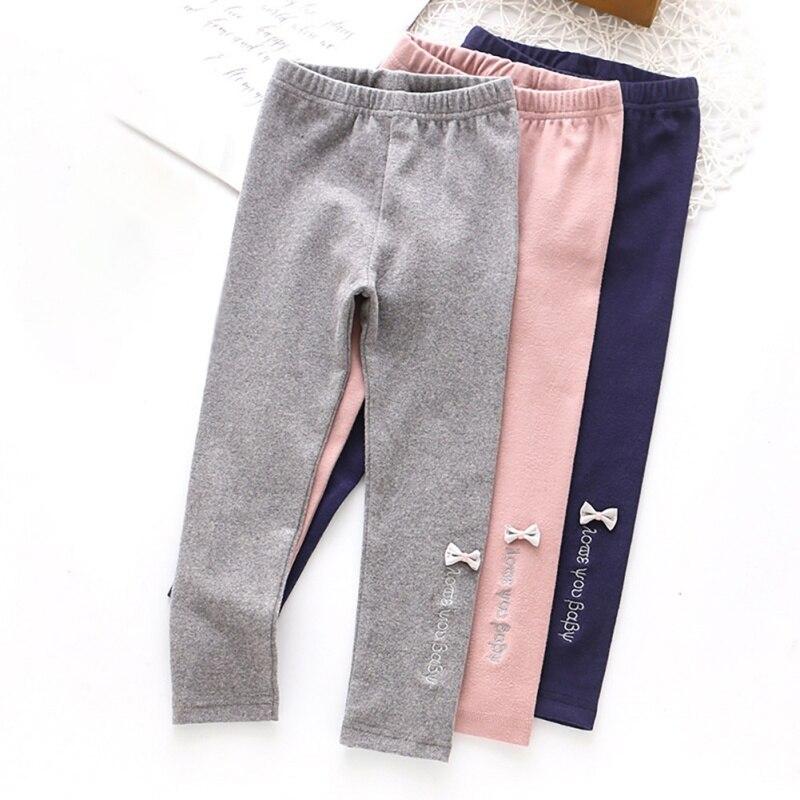 Spring Girl Leggings Baby Girl Korean Russian Printed Bow TrousersA