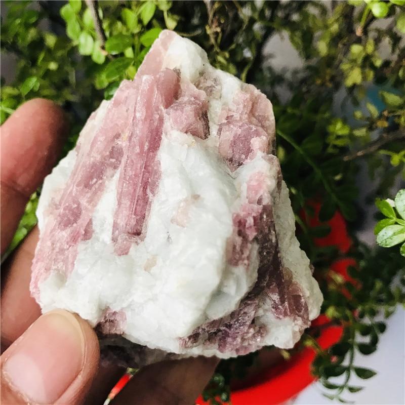 100-150g, turmalina roja Natural, piedras de rubellita, especímenes de cristal