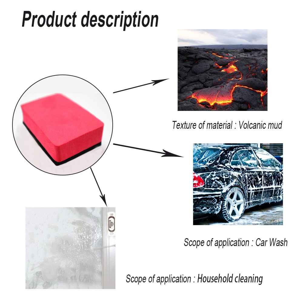 New Car Magic Clay Bar Pad Sponge Block Cleaning Eraser Wax Polish Pad Tool Car Wash Sponge Auto Cleaning Tool Car Accessories enlarge