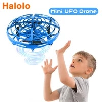 ufo toys for kids mini drone of induction by hand anti collision drone rc helicopter hand operated flying toy gift for christmas