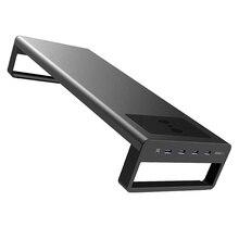 Socle de bureau pour moniteur LCD multifonctionnel HOT-Vaydeer, 4 x USB3.0 + charge sans fil