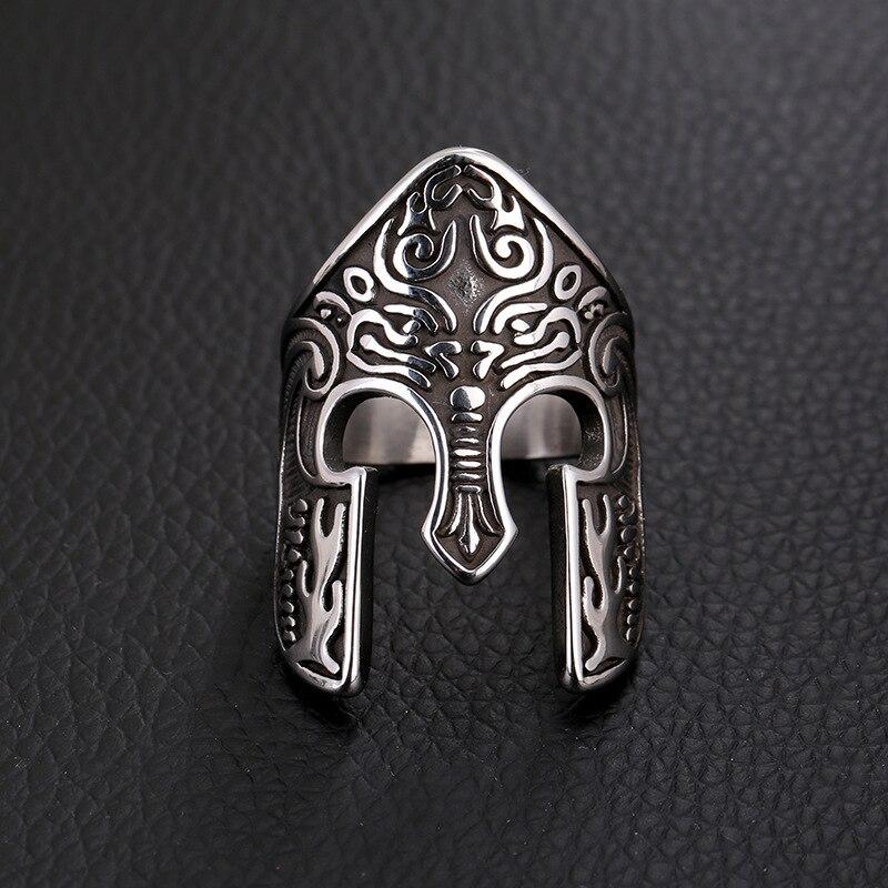 Carboneto de segredo do Menino Chegada Máscara de Guerreiro Anel Anel Anel Viking Escandinavo Totem Amuleto Anel Jóia Da Forma Da Jóia dos homens