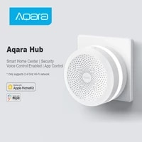 Aqara     Hub passerelle intelligente  telecommande sans fil ZigBee  wi-fi  connexion RGB  veilleuse  fonctionne avec lapplication Mi Home Mijia Homekit  Original