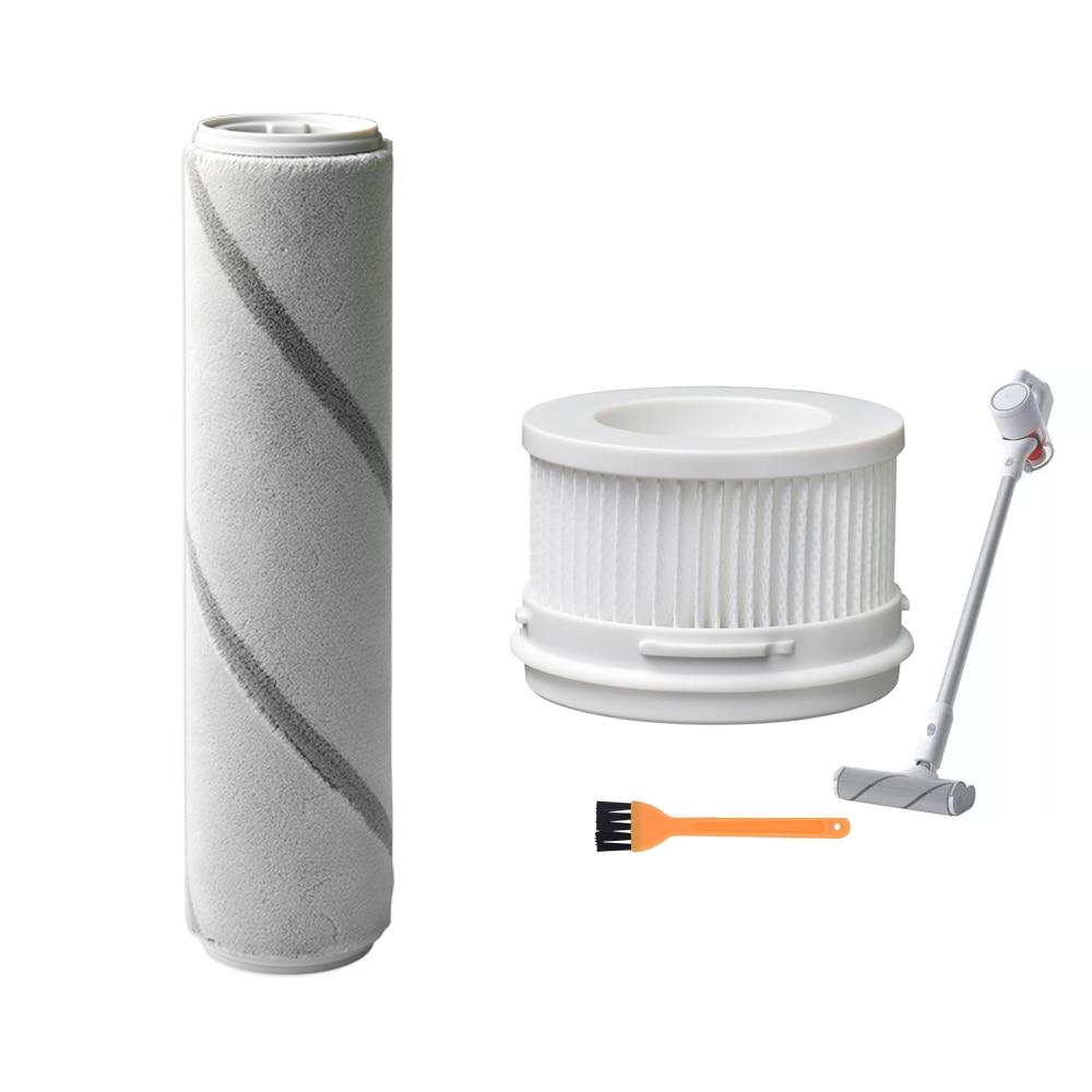Cepillo de rodillo de filtro Hepa para Xiaomi Mijia 1C, aspirador inalámbrico de mano, cepillos de rodillo de repuesto, piezas de cepillo de limpieza