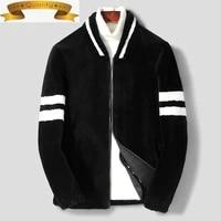 coats 100 autumn wool winter jacket men real fur coat short sheep shearing bomber jacket men korean motorcycle jackets y101 kj