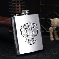 7oz mini 304 stainless steel flask outside portable whisky flasks black holster leather flask for alcohol