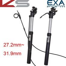 KindShock selle 27.2mm hauteur réglable suspension vélo VTT EXA FORME 27.2 28.6 30.4 30.9 31.6mm à distance contrôle manuel main filaire câble