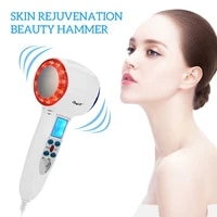 ultrasonic cryotherapy hot cold hammer face lifting led light photon acne treatment massager skin care facial beauty machine 50
