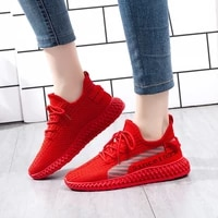 summer women shoes korean breathable mesh sneakers red flying outdoor white sneakers tennis black casual vulcanized shoes woman