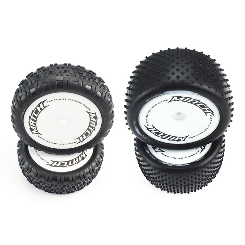 Фото - 4Pcs Front and Rear Wheel Tires Tyre for Wltoys 104001 1/10 RC Car Upgrade Parts Accessories 4pcs 1 64 modified wheels rubber tires with axles and end cap upgrade parts for rc model car