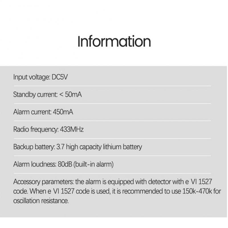 Wireless WIFI GSM Home Security Alarm System For Tuya Smart Life APP With Motion Sensor Detector Works With Alexa Google Home enlarge