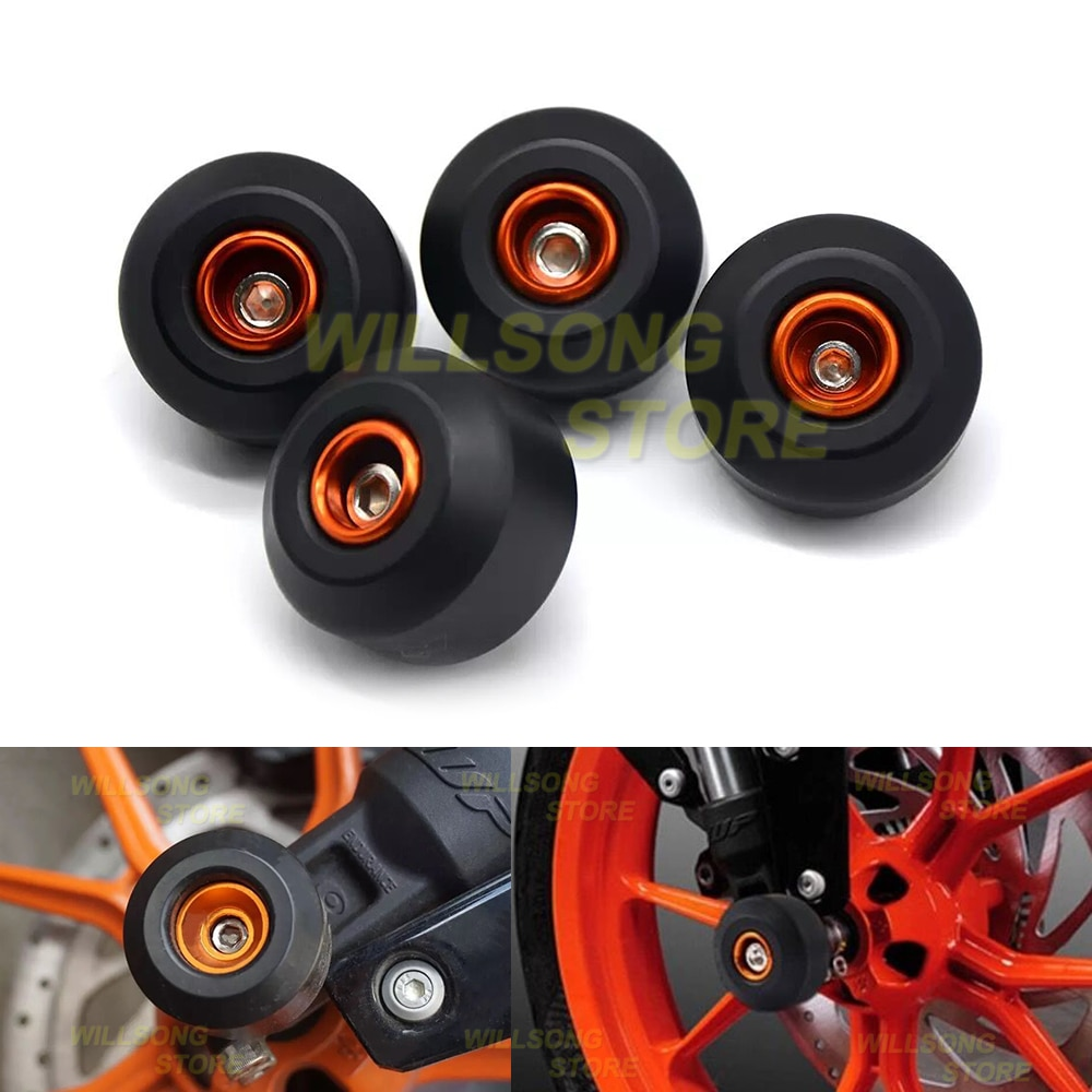 Front/Rear Wheel Protector Axle Fork Crash Slider For KTM DUKE 125/200/390 Motorcycle Accessories Parts Falling Protection