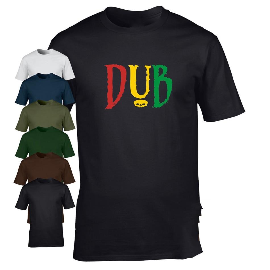 DUB camiseta reggae club paso de música rasta genial retro festival divertido camiseta Última Noticia estilo