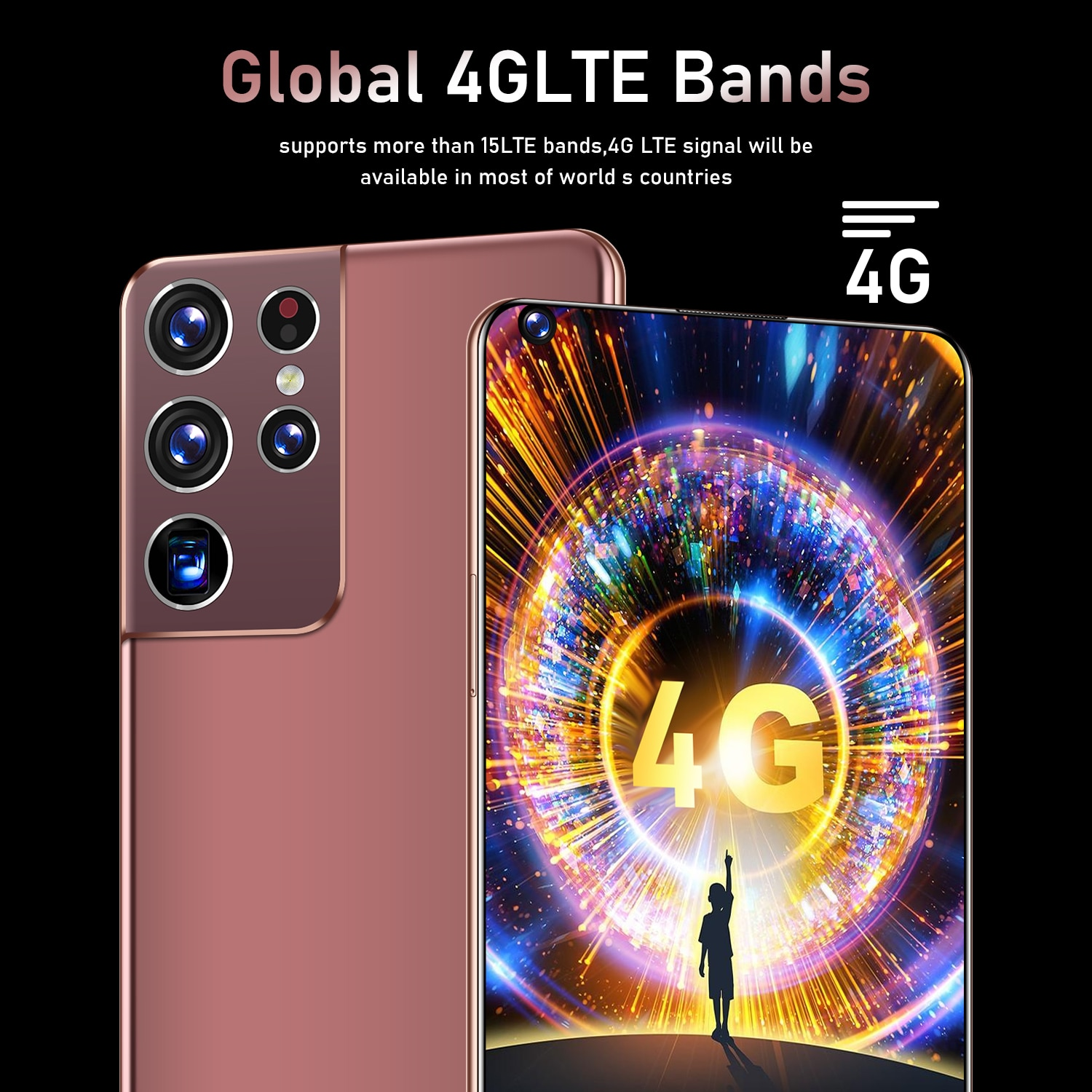 Global Version S21 Ultra 6.8 HD Inch Full Screen 2GB 32GB 4 Core Dual SIM Smart Phone Andriod Type-C Quick charge Mobile Phone enlarge