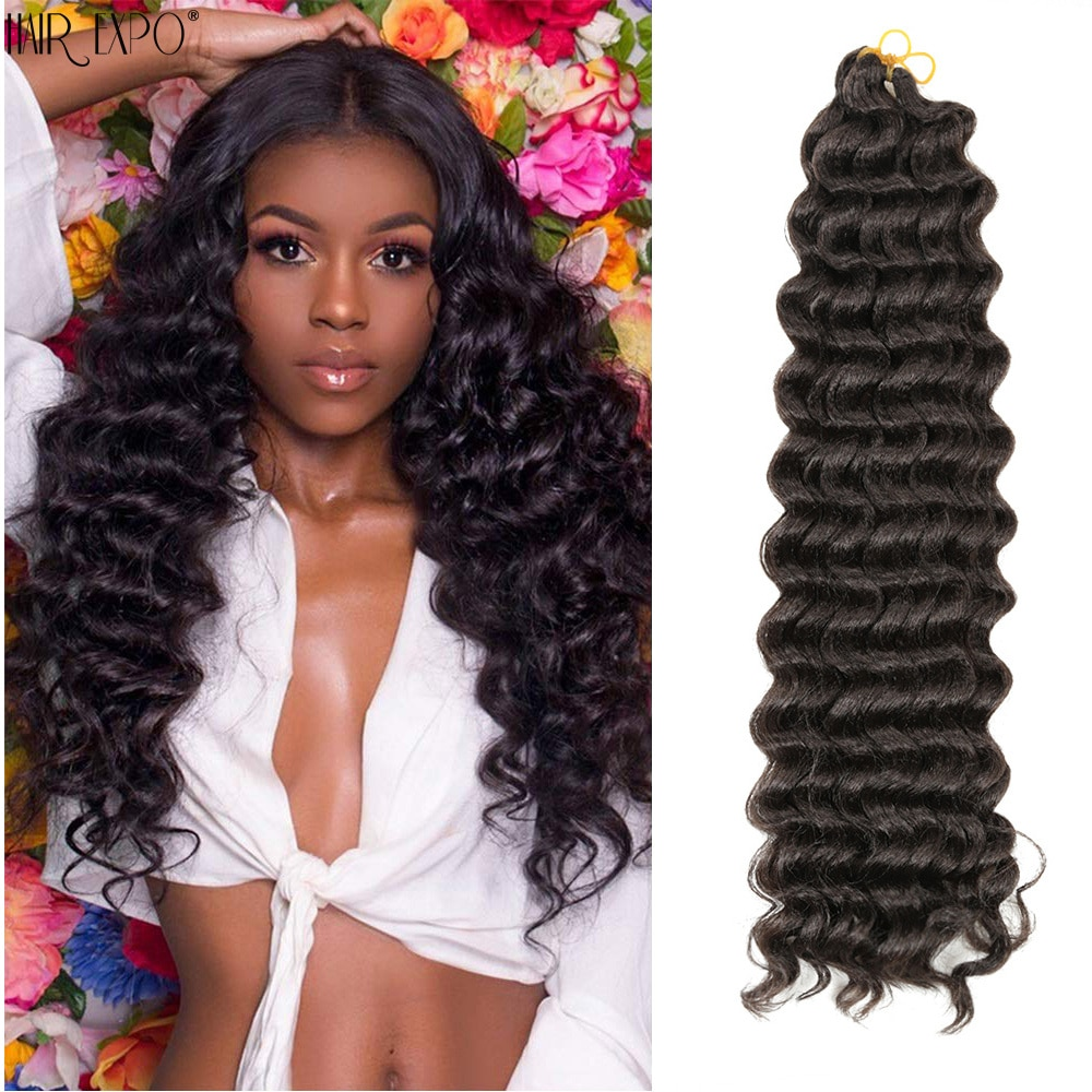 22-30inch Synthetic Wigs Deep Twist Crochet Braids Hair Extensions African Freetress Omber Wig For Black Women Hair Expo City