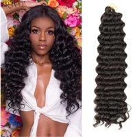 22 30inch synthetic wigs deep twist crochet braids hair extensions african freetress omber wig for black women hair expo city
