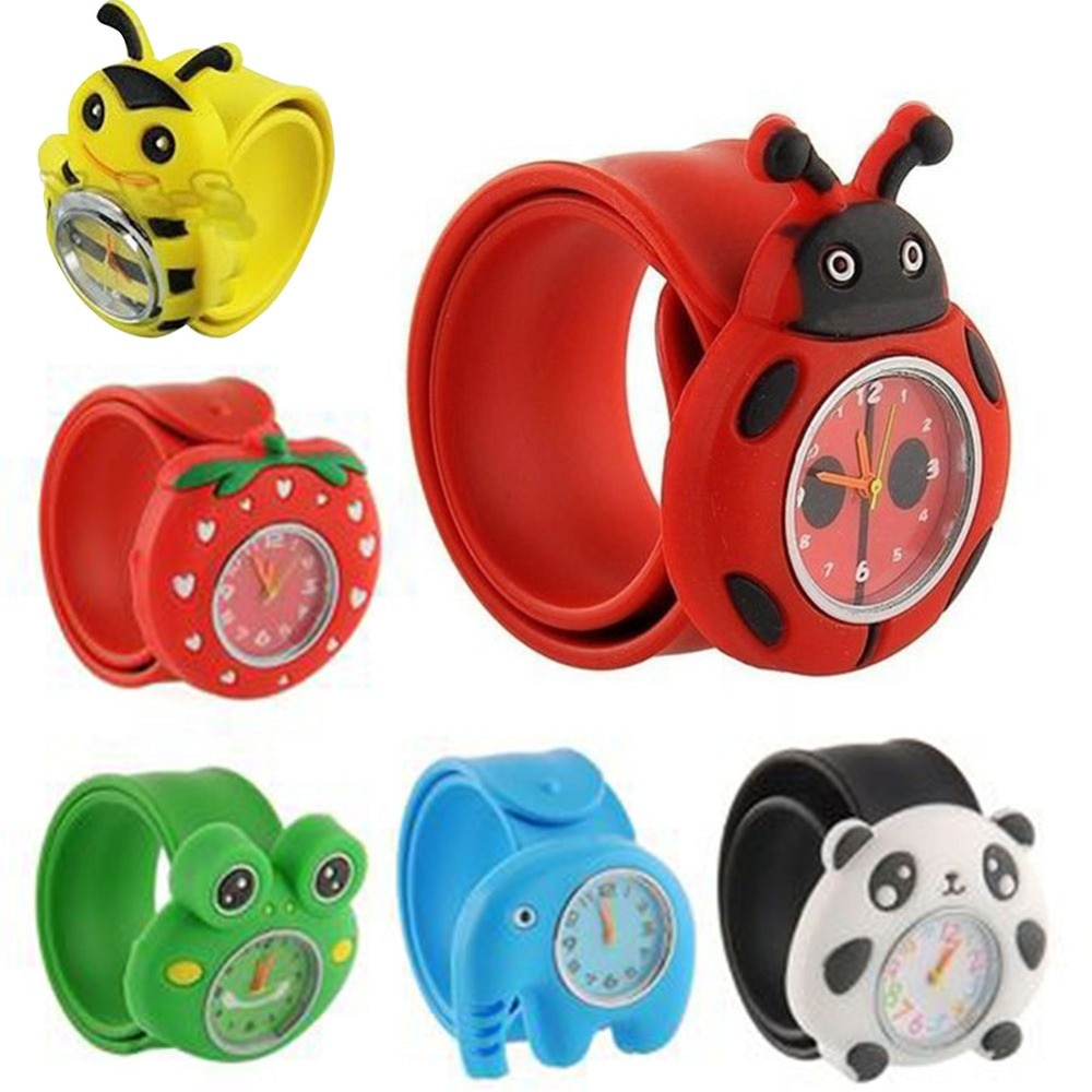 Children's Cartoon Watch Cute Animal Fruit Kids Silicone Patted Watch Girl Boy Favorite Toy Quartz W