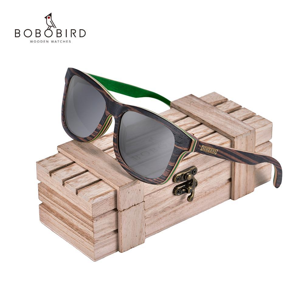 بوبو الطيور очки солнцезащитные نظارة شمسية خشبية النساء الرجال نظارات شمسية مستقطبة السيدات UV400 نظارات الذراع في هدية مربع دروبشيبينغ