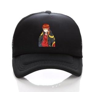 anime Game Mystic Messenger hat 707 Jumin Zen Full black Sunscreen women men Adjustable Baseball cap