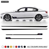 car door side stripe skirt waist line sticke for bmw 7 series g11 g12