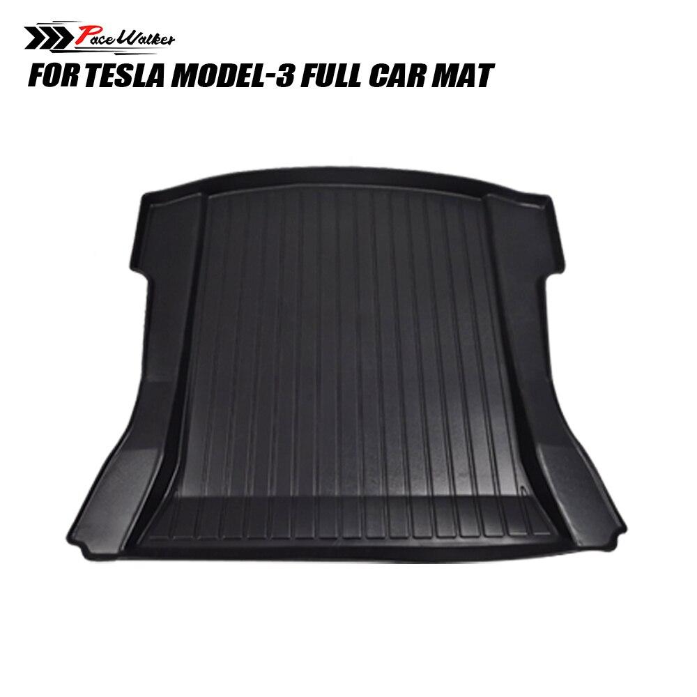 All Weather Floor Mats for Tesla Model 3 Custom Fit TPE Car Liner Rear Cargo Tray Trunk Waterproof Interior Accessories Set enlarge