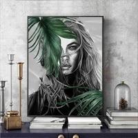 Style scandinave mur Art toile peinture mode femmes Portrait affiches imprime peinture mur photos salon decor a la maison