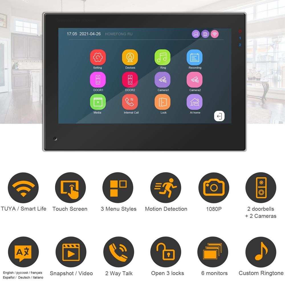 Alexa Video Intercom for Home TUYA Smart WIFI Intercom Apartment System Touch Screen  1080P Doorbell Keypad RFID Password Unlock enlarge