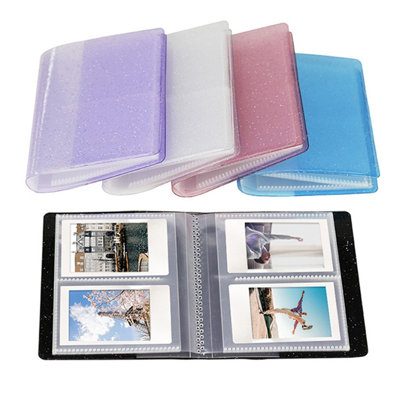 64 Capacity Cards Mini Holder Binders Albums With bling Clear Cover For 6*9cm Board Games Card Multifunction Sleeve Holder