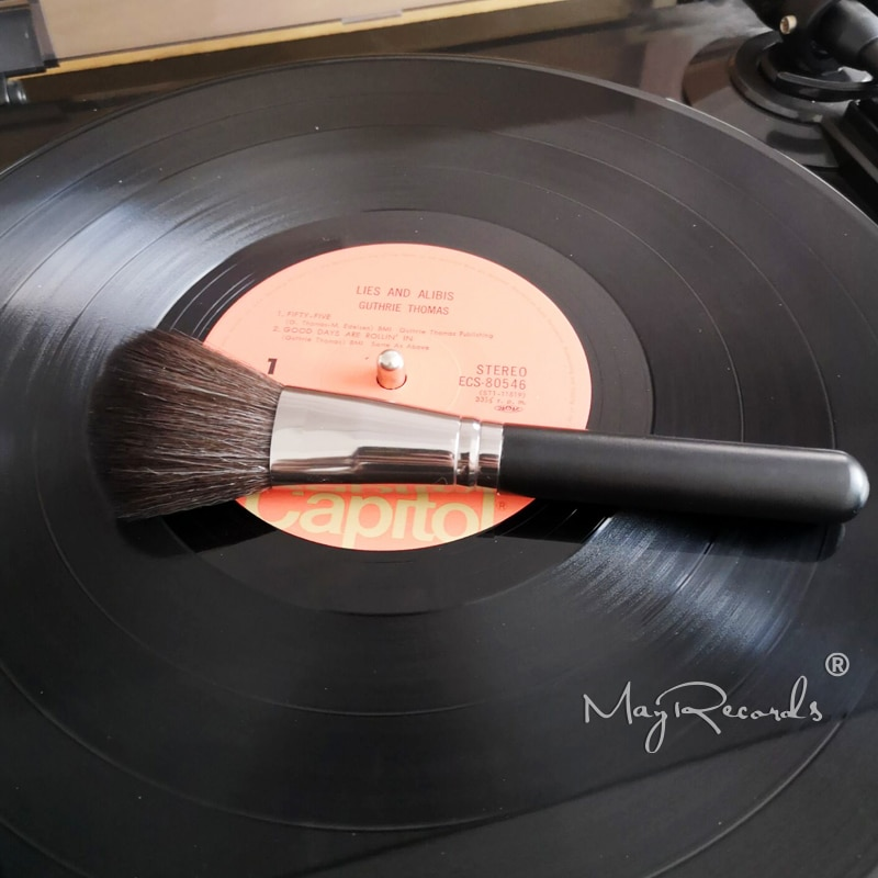 Anti-statique nettoyage brosse disque dépoussiéreur pour LP vinyle disque platine lecteur accessoires