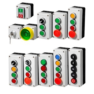 Button switch control box plastic hand-held self starting button waterproof box electrical industrial emergency stop switch