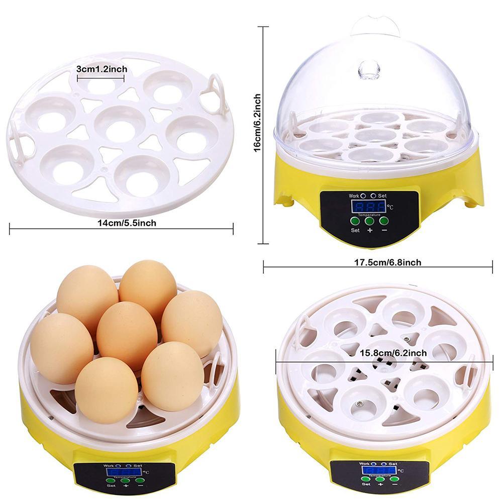 Mini 7 Egg Incubator Poultry Incubator Brooder Digital Temperature Control