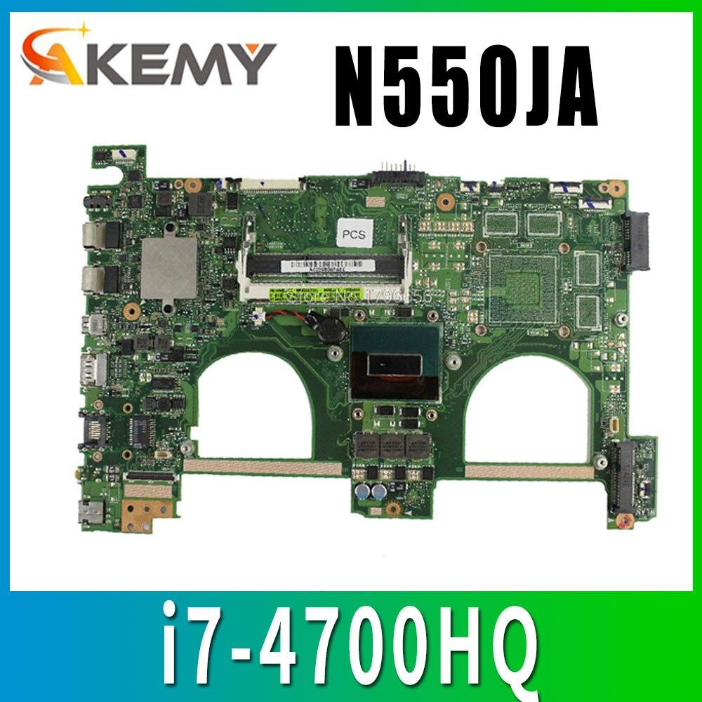 معالج اللوحة الأم ASUS N550 N550JA N550JV i7-4700HQ DDR3L 1600 MHz HD الرسومات المتكاملة 4600 مختبرة بالكامل شحن مجاني