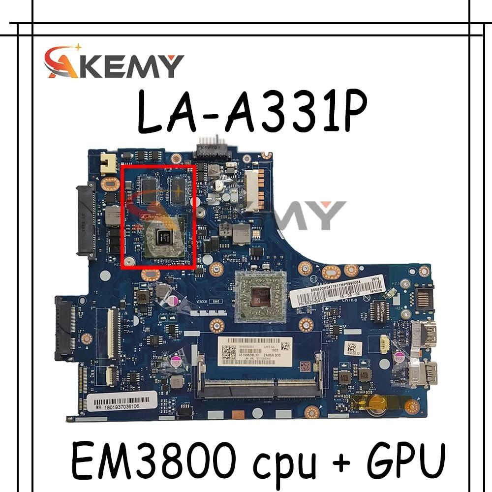 Akemy ZAUSA LA-A331P اللوحة لينوفو ideapad S415 اللوحة المحمول DDR3 مع EM3800 cpu + GPU