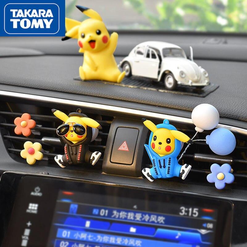 Автомобильный Кондиционер TAKARA TOMY Pokemon Pikachu, воздушный выход, милое украшение интерьера автомобиля, мультяшный