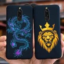 Coole Drache Lion Gemalt Fall Für Xiaomi Redmi 8 Fall Redmi8 EINE Soft Slim Luxus Schwarz Matte Abdeckung Für Xiaomi redmi 8A 8 eine Stoßstange