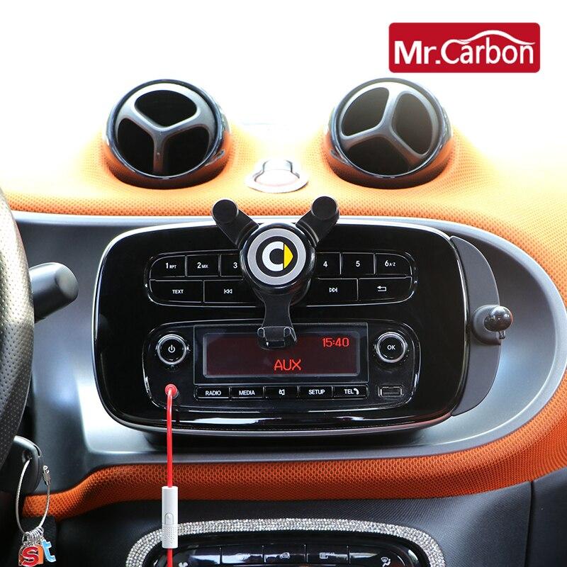 Car mobile phone Bracket navigation frame gravity Bracket For Mercedes Smart 451 453 Fortwo Forfour