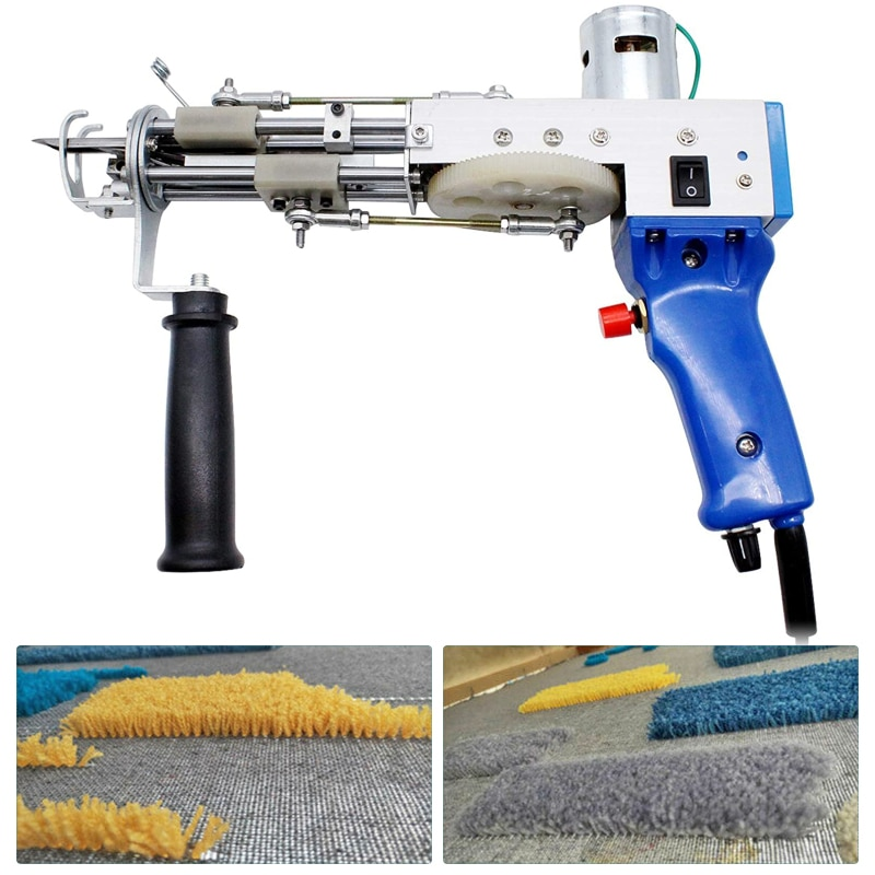 Electric Carpet Tufting Gun Hand Gun Carpet Weaving Flocking Machines Cut Pile Weaving Flocking Machines Loop Pile Cut Loop Pile enlarge