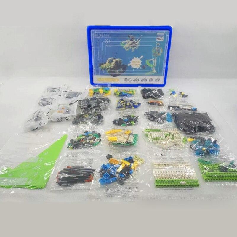 NEUE Technologie STEM Roboter Wissenschaft Set Robotic Pädagogisches Set DIY Bricks Kompatibel mit legoes WeDo 2,0 Technik 9686 Spielzeug