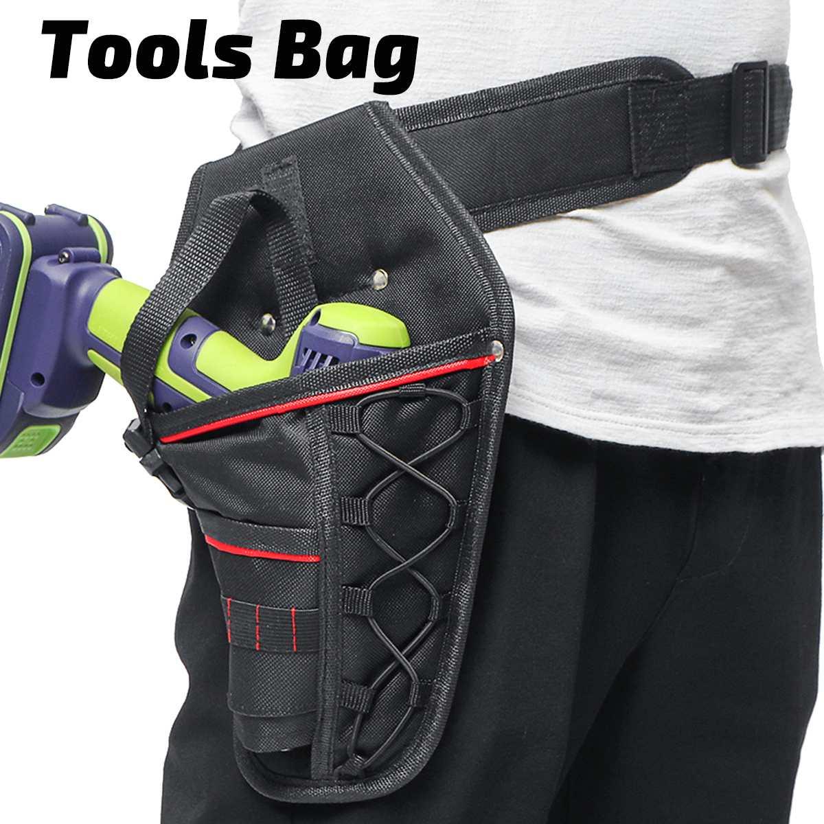 Eletricista ferramenta sacos portátil cinto titular bolsa saco de armazenamento para elétrica furadeira sem fio chave de fenda