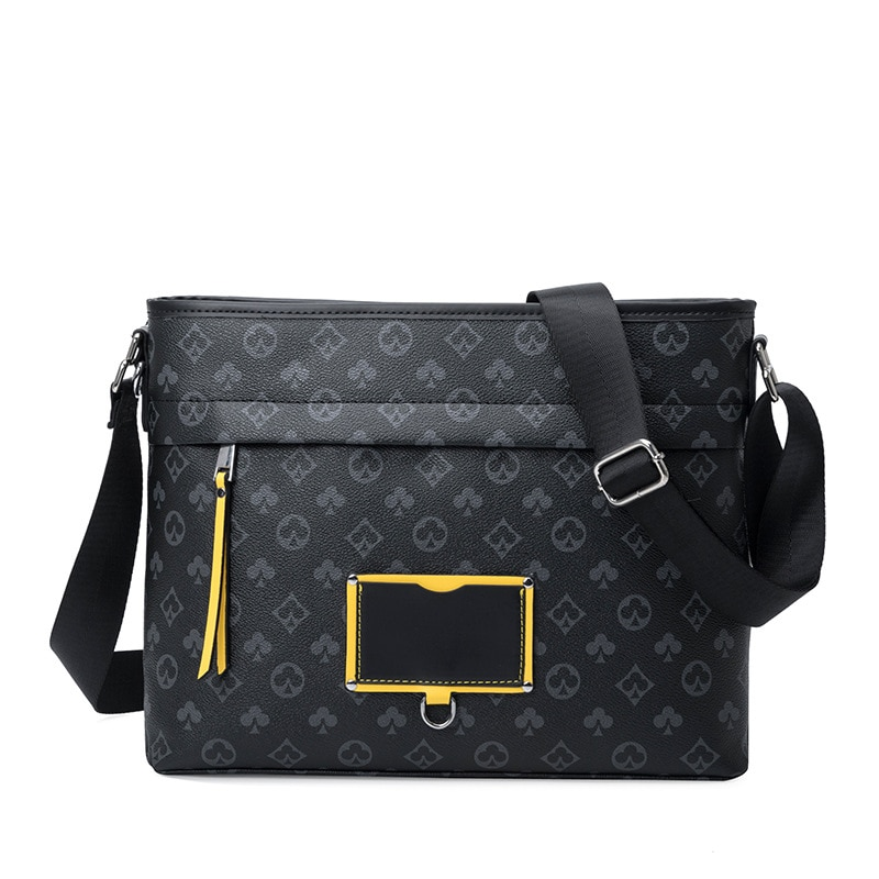 Fashion Men's Messenger Bag Leather Print Luxury Handbags Designer Shoulder Bag Men Crossbody Bags M