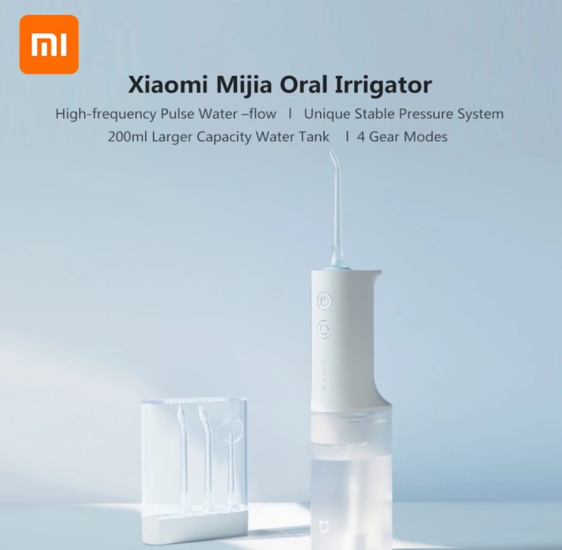 Xiaomi Mijia Oral Irrigator Flusher Cleaning Stone Tooth Portable Oral Washer Flossers Electric Flusher Teeth Cleaner enlarge