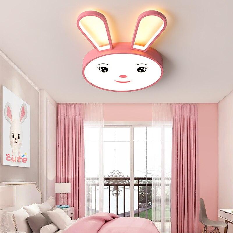Lámpara led inteligente de conejo para decoración del hogar, luces de techo...
