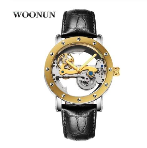 Fashion Transparent Watches Men Single Bridge Tourbillon Watches Automatic Mechanical Skeleton Wristwatches Luminous Hands Clock enlarge