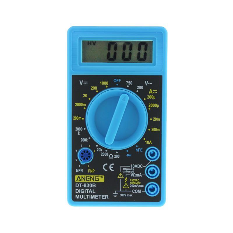 ANENG DT830B ЖК-цифровой мультиметр AC/DC 750/1000 В Вольтметр Амперметр Ом тестер Высокая безопасность ручной измеритель цифровой мультиметр