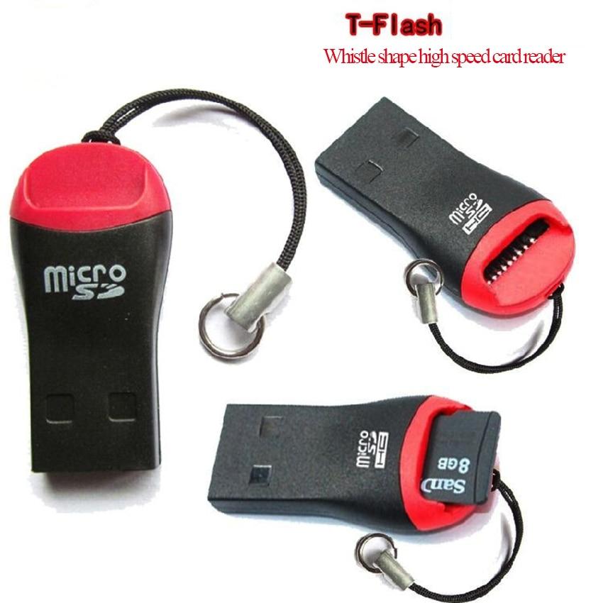 Мультяшный свисток Форма мини USB 2,0 микро UE TF карты флэш-памяти, 1 в 1 SD для устройства чтения sd-карт для ноутбука мобильный телефон