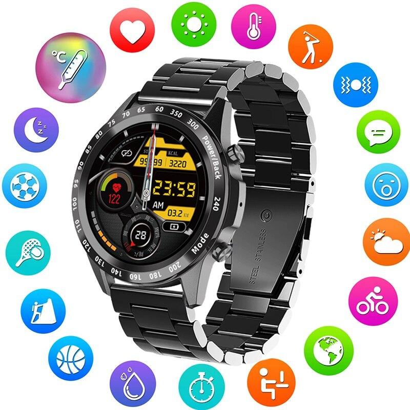 2021 جديد ساعة ذكية الرجال معدل ضربات القلب ضغط الدم ساعة ذكية ممارسة جهاز تعقب للياقة البدنية الطلب الهاتفي Smartwatch ل أندرويد Ios