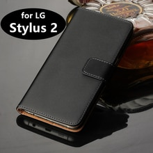 "Premium Leather Flip Cover Luxury Wallet case for LG Stylus 2 5.7"" card holder holster phone shell GG"
